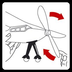Иллюстрация 1 из 3 для 1630 Самолет с резиномотором Storm (39х30см) | Лабиринт - книги. Источник: Лабиринт