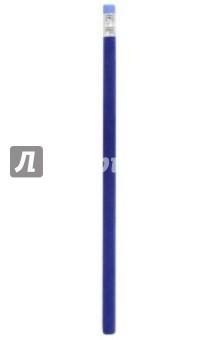Карандаш чернографитный (с ластиком, бархатный, синий)