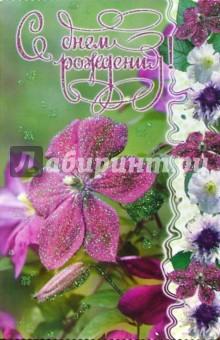 3ВКТ-029/День рождения/открытка-вырубка двойная