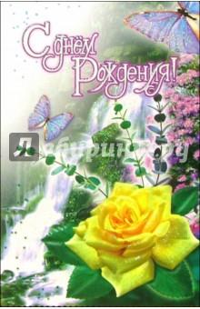 3ВКТ-031/День рождения/открытка-вырубка двойная