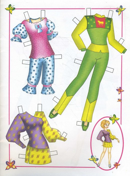 Как сделать из бумаги все для бумажных кукол