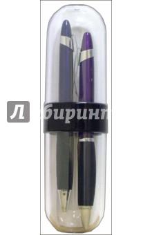 Набор подарочный: 2 шариковые ручки в пластмассовом футляре /18127