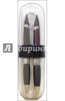 Набор подарочный: 2 шариковые ручки в пластмассовом футляре /18141