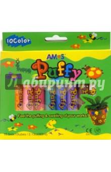 Краски оформительские 10 цветов PUFFY /20639 (картонная упаковка)