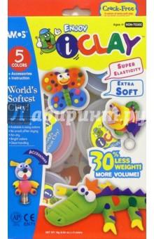 Глина для моделирования 5 цветов I Clay /22637 (картонная упаковка)