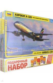 Гражданский авиалайнер Аэробус А-320 (7003П)Пластиковые модели: Авиатехника (1:72)<br>А320 является первым в мире пассажирским самолетом с электродистанционной системой управления. В настоящее время А320 является основным самолетом Аэрофлота на международных рейсах.<br>Масштаб: 1:144<br>Кол-во деталей: 140<br>Длина: 25,93 см.<br>Материал: пластик<br>Упаковка: картонная коробка<br>В набор входит: набор деталей для сборки модели, клей, кисточка, краски.<br>Моделистам до 10 лет рекомендуется помощь взрослых.<br>Не рекомендуется детям до 3-х лет. Содержит мелкие детали.<br>Сделано в России.<br>