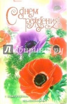 3ВКТ-147/День рождения/открытка-вырубка двойная