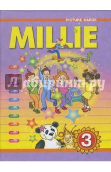 Английский язык. 3 класс. Карточки с рисунками к учебнику Millie - Азарова, Ермолаева, Дружинина