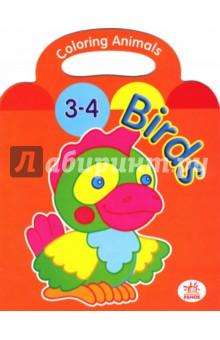 Раскраска: Birds (3-4 года)