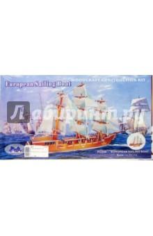 Сборная деревянная модель Парусник (PC049)  - купить со скидкой