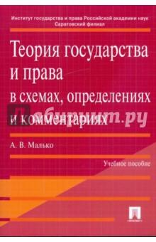 Теория государства и права в схемах, определениях и комментариях: учебное пособие - Александр Малько