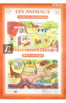 Французский язык. Животные. 3-4 классы (1). Стационарное учебное наглядное пособие - Л. Марчик