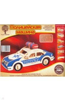 Сборная деревянная модель Полицейская машина (P135)  - купить со скидкой