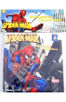 Раскраска-смывайка Spider-Man 5 фломастеров (Т54752)