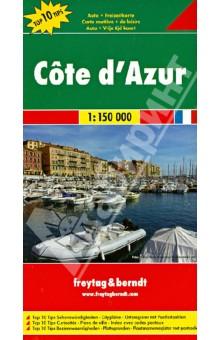 Cote d'Azur. 1:150 000