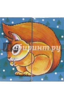 Кубики: Лесные животные (4 штуки)