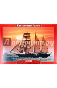 "Puzzle-1000 ""Парусник на закате"" (С-100392)"
