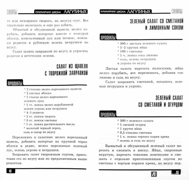 Иллюстрация 1 из 33 для Салаты. Сборник кулинарных рецептов - Лагутина, Лагутина | Лабиринт - книги. Источник: Лабиринт