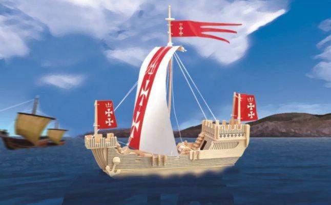 Иллюстрация 1 из 8 для Ганзейское торговое судно (Р129)   Лабиринт - игрушки. Источник: Лабиринт