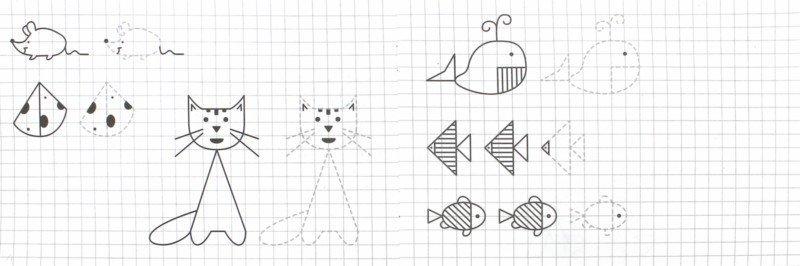 Иллюстрация 1 из 21 для Прописи. Рисуем по клеточкам - И. Попова   Лабиринт - книги. Источник: Лабиринт