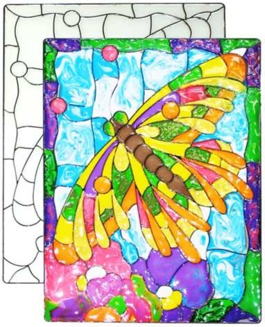 Иллюстрация 1 из 2 для Витраж большой: Стрекоза | Лабиринт - игрушки. Источник: Лабиринт