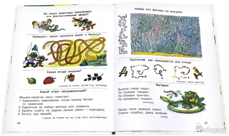 Иллюстрация 1 из 19 для Большая книга досуга. Играем - не скучаем. Головоломки, ребусы, загадки, путаницы, скороговорки - Марина Дружинина | Лабиринт - книги. Источник: Лабиринт