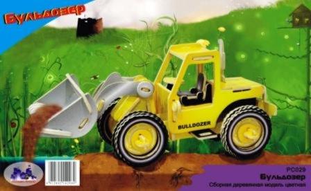 Иллюстрация 1 из 3 для Бульдозер: Сборная модель   Лабиринт - игрушки. Источник: Лабиринт