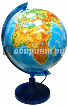 Глобус физико-географический с подсветкой (d 250 мм) толстовка нежно голубого цвета brums ут 00008785