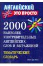 2000 наиболее употребительных английских слов и выражений. Тематический словарь, Пронькина Валентина Михайловна