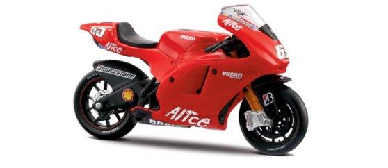 Иллюстрация 1 из 2 для Мотоцикл Ducati Desmosedici 1:18 (39013) | Лабиринт - игрушки. Источник: Лабиринт