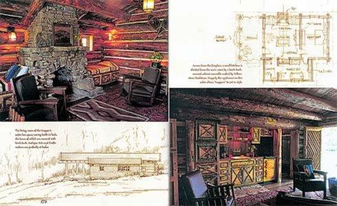 Бревенчатые дома. дизайн и архитектура.