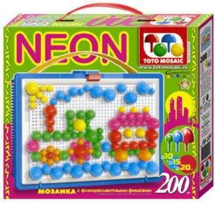 Иллюстрация 1 из 2 для Мозаика 200 элементов Неон (00-149)   Лабиринт - игрушки. Источник: Лабиринт