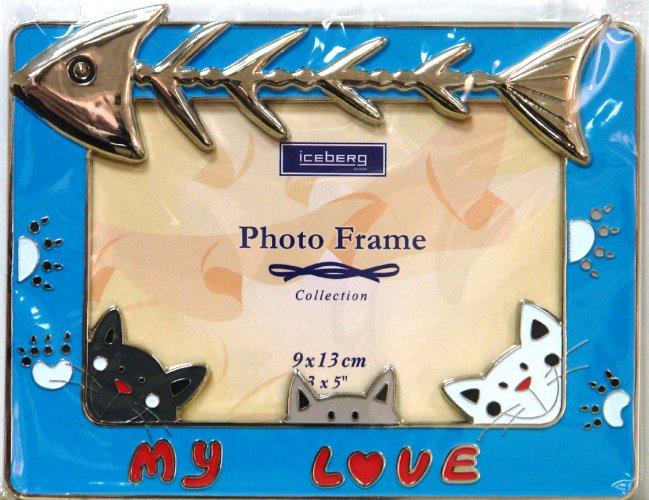 Иллюстрация 1 из 3 для Фоторамка JPF-D17C, металл, голубая | Лабиринт - сувениры. Источник: Лабиринт