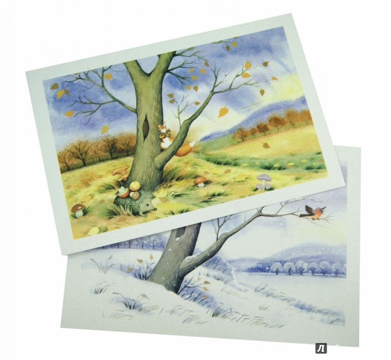 """Иллюстрация 1 из 7 для Тематические карточки """"Времена года. Погода. Природа""""   Лабиринт - книги. Источник: Лабиринт"""