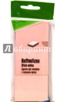 Бумага самоклеящаяся 100 листов 50х40мм (682011-03) розовая