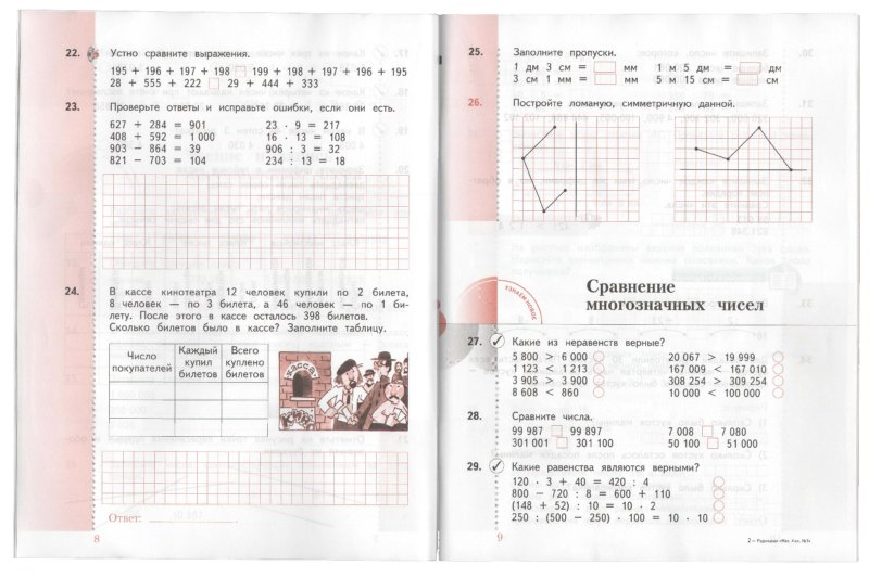 решебник в рабочей тетради по математике 4 класса рудницкая 2 часть