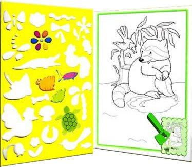 Иллюстрация 1 из 7 для Раскраска с трафаретами. Животные | Лабиринт - книги. Источник: Лабиринт
