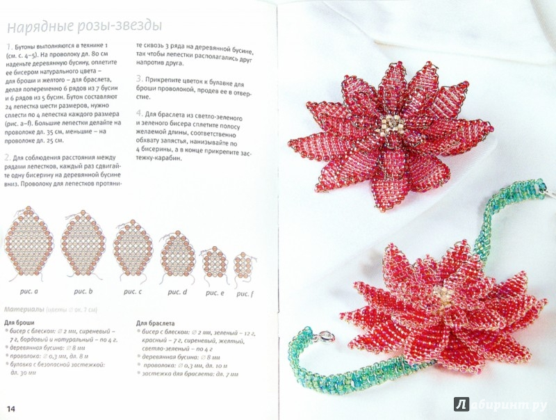 Иллюстрация 1 из 9 для Цветы из бисера. Подарки, украшения, аксессуары - Штефани Глекер | Лабиринт - книги. Источник: Лабиринт