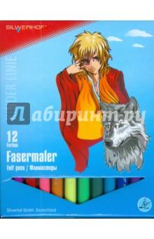 Фломастеры 12 цветов (861223-01) Anime.