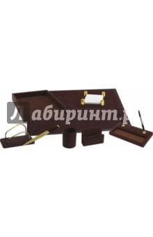 Настольный офисный набор Premium (кожа, 9 предметов) Silwerhof