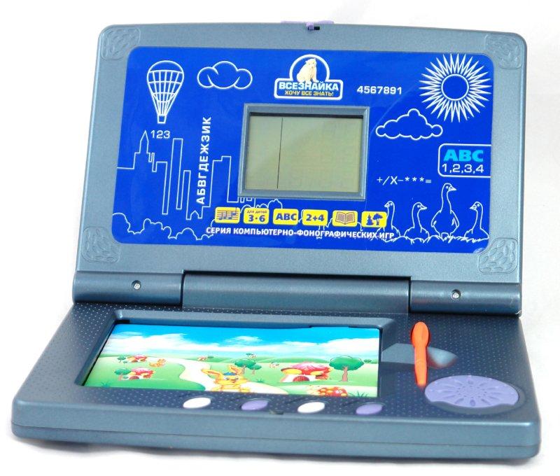 Иллюстрация 1 из 2 для Детский компьютер Всезнайка (60 учебных цветных карточек) | Лабиринт - игрушки. Источник: Лабиринт