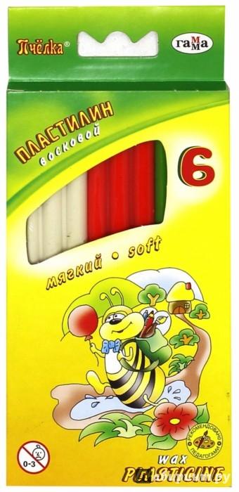 Иллюстрация 1 из 5 для Пластилин восковой Пчелка 6 цветов со стеком (280029Н) | Лабиринт - игрушки. Источник: Лабиринт