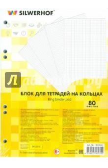 Блок сменный для тетрадей на кольцах (А5, 80 листов) (305520)