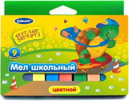 Иллюстрация 1 из 7 для Мел школьный 9 штук цветной (FMC-9An)   Лабиринт - канцтовы. Источник: Лабиринт