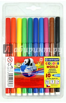 Фломастеры Color World (10 цветов) (7550/10 TP) фломастеры centropen набор colour world 18 цветов