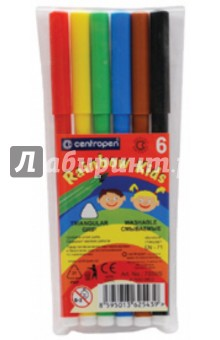 "Фломастеры 6 цветов ""Rainbow Kids"" (7550/6)"
