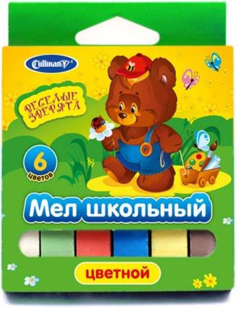 Иллюстрация 1 из 7 для Мел школьный цветной, 6 штук, 6 цветов (FMC-6An) | Лабиринт - канцтовы. Источник: Лабиринт