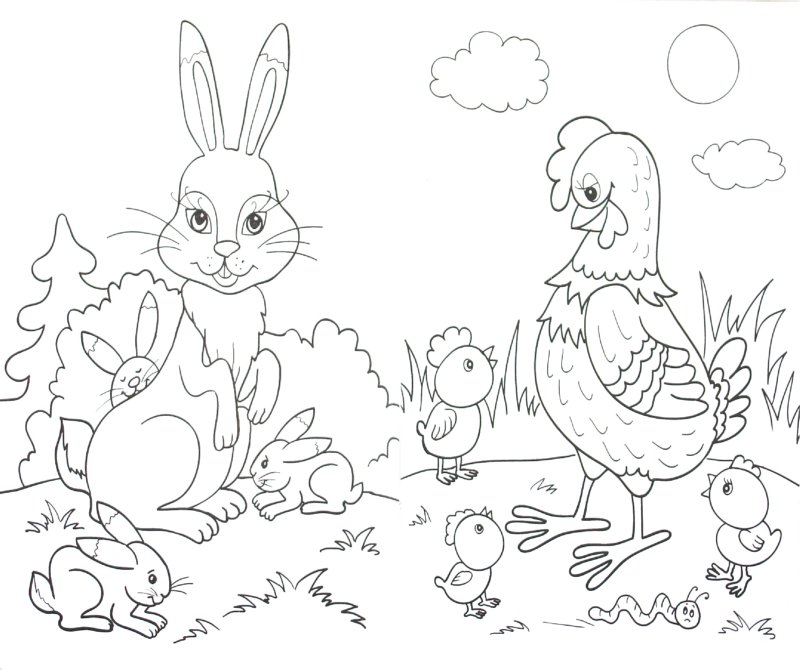 Иллюстрация 1 из 10 для Раскраска: У кого какие мамы | Лабиринт - книги. Источник: Лабиринт
