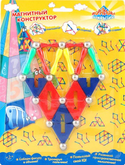 Иллюстрация 1 из 2 для Конструктор магнитный (12885) | Лабиринт - игрушки. Источник: Лабиринт