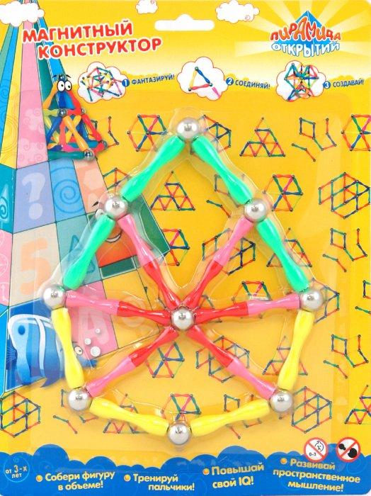 Иллюстрация 1 из 2 для Конструктор магнитный (1118) | Лабиринт - игрушки. Источник: Лабиринт